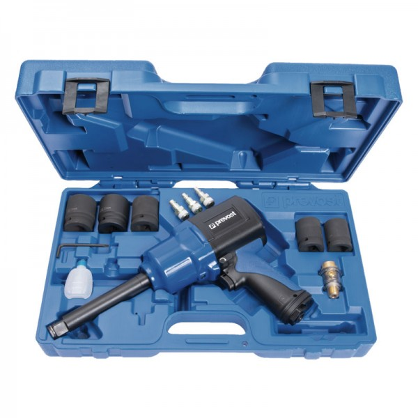"""Composite air impact wrench with extended shaft Prevost TIW C341630RK 3/4"""" case"""