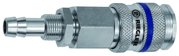 Schnellverschlusskupplung NW 7,8, Stahl, Tülle LW 6, M12x1