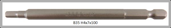 """10 Stück Vessel Industriebit Hexagonal-Schrauben POWER BIT 1/4"""" HEX E6.3  HEX 4.0 X Ø7.0 X 100 (mm)"""