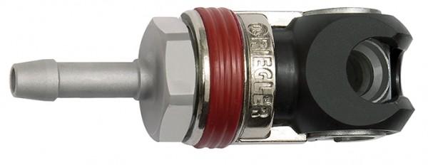 Schwenk-Sicherheitskupplung NW 6, ISO 6150 C, Stahl, Tülle LW 6 - 10