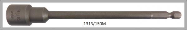"""10 Stück  Vessel magnetische HEX Steckschlüssel POWER BIT 1/4"""" HEX E6.3  A/F 13.0 X Ø19.0 X 150 (mm)"""