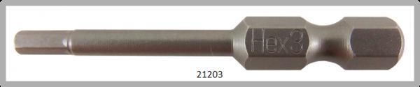 """10 Stück Vessel Industriebit Hexagonal-Schrauben POWER BIT 1/4"""" HEX E6.3 HEX 3.0 X Ø3.5 X 49 (mm)"""