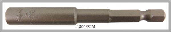 """10 Stück  Vessel magnetische HEX Steckschlüssel POWER BIT 1/4"""" HEX E6.3  A/F 6.0 X Ø10.0 X 75 (mm)"""