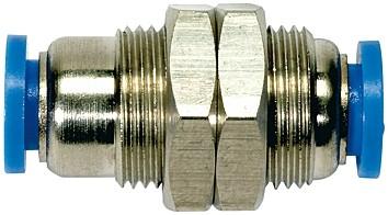 Gerade Schott-Steckverbindung »Blaue Serie«, M12x1,0 - M27x1,0, Schl.-Ø 4-16