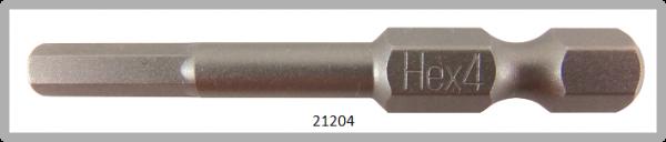 """10 Stück Vessel Industriebit Hexagonal-Schrauben POWER BIT 1/4"""" HEX E6.3  HEX 4.0 X Ø4.6 X 49 (mm)"""