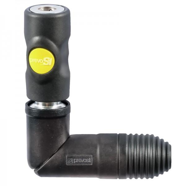 Schwenkbare Kupplung Prevost ASI 061102SW mit Innengewinde ARO210, AG BSPP G 3/8