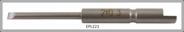 Vessel Industriebit für Schlitz-Schrauben HALF MOON BIT Ø4mm 0.3xØ2.0 X 20 X 44 (mm)