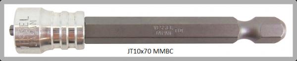 """Vessel Industriebit für Torx-Schrauben POWER BIT - MAGNETIC RING 1/4"""" HEX E6.3 TX 10 X 70 (mm)"""