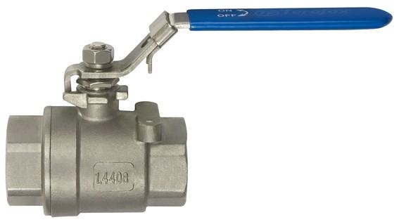 Stainless steel ball valve, 2-piece, IT/IT thread, G 1/4 - 1, DN 11.6 - 25