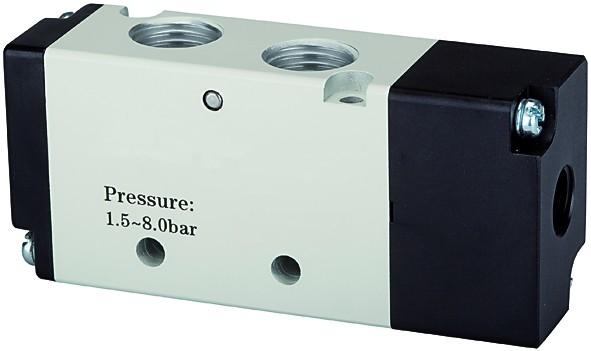 5/2-way valve, Pneumatic, »4A«, monostable, M5 - G 1/8 - 1/2