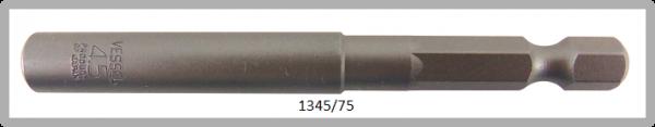 """10 Stück  Vessel HEX Steckschlüssel POWER BIT 1/4"""" HEX E6.3  A/F 4.5 X Ø8.0 X 75 (mm)"""