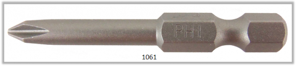 "Vessel Industriebit für Phillips-Schrauben POWER BIT 1/4"" HEX E6.3  PH 1 X Ø4.76 X 49 (mm)"