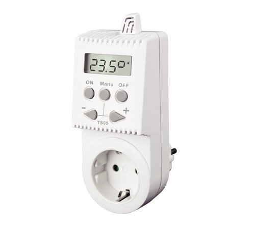 Socket thermostats for infrared heaters in different versions