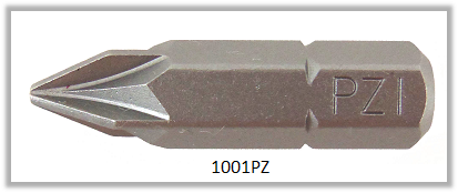 """Vessel Industriebit für Pozidriv-Schrauben INSERT BIT 1/4"""" HEX E6.3 PZ 1 X 25 (mm)"""