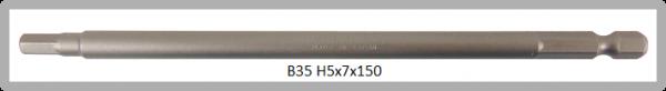 """10 Stück Vessel Industriebit Hexagonal-Schrauben POWER BIT 1/4"""" HEX E6.3  HEX 5.0 X Ø7.0 X 150 (mm)"""