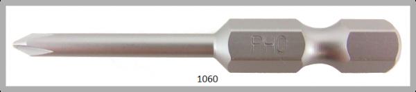 """Vessel Industriebit für Phillips-Schrauben POWER BIT 1/4"""" HEX E6.3  PH 0 X Ø3.17 X 49 (mm)"""