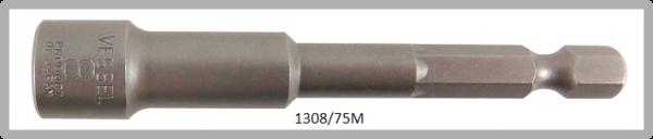 """10 Stück  Vessel magnetische HEX Steckschlüssel POWER BIT 1/4"""" HEX E6.3  A/F 8.0 X Ø13.0 X 75 (mm)"""