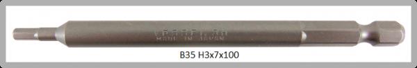 """10 Stück Vessel Industriebit Hexagonal-Schrauben POWER BIT 1/4"""" HEX E6.3  HEX 3.0 X Ø7.0 X 100 (mm)"""