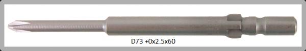 Vessel Industriebit für Phillips-Schrauben WING SHANK BIT Ø4mm PH 0 X Ø2.5 X 20 X 60 (mm)