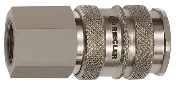 Schnellverschlusskupplung NW 10, Stahl / Messing vern., G 3/8 - 3/4, IG