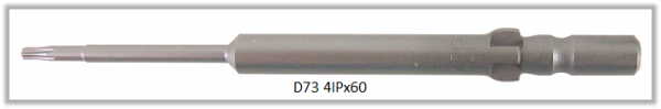 Vessel Industriebit für Torx-Plus-Schrauben WING SHANK BIT Ø4mm 4IP X Ø1.8 X 20 X 60 (mm)