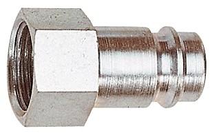Nippel für Kupplungen NW 10, Stahl gehärtet/vern., G 3/8 - 3/4 IG
