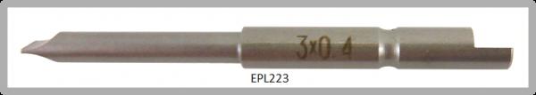 Vessel Industriebit für Schlitz-Schrauben HALF MOON BIT Ø4mm 0.4xØ3.0 X 20 X 44 (mm)