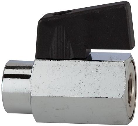 Mini-Kugelhahn, glatte Oberfläche, MS vern., G 1/8 - 1/2, IG - IG/AG, DN 8-10