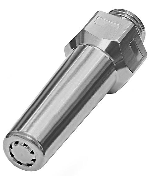 Lärmarme Runddüse, M12x1,25, Messing vern., Düsen-Außen-ø 11 mm