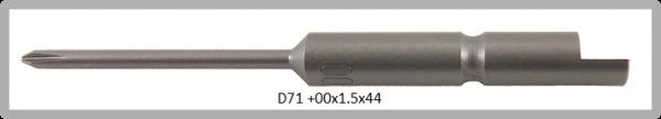 Vessel Industriebit für Phillips-Schrauben HALF MOON BIT Ø4mm PH 00 X Ø1.5 X 20 X 44 (mm)