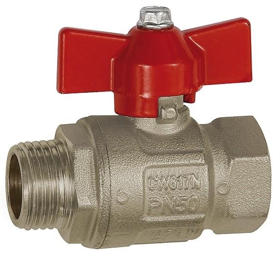 Ball valve, Basic design, IT/ET, nickel-plated brass, G 1/4 - 1 1/4