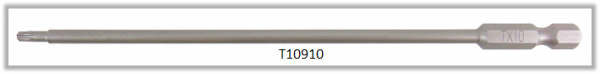 """Vessel Industriebit für Torx-Schrauben POWER BIT 1/4"""" HEX E6.3  TX 10 X Ø3.96 X 152 (mm)"""