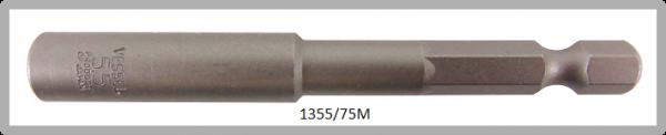 """10 Stück  Vessel magnetische HEX Steckschlüssel POWER BIT 1/4"""" HEX E6.3  A/F 5.5 X Ø9.0 X 75 (mm)"""