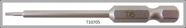 """Vessel Industriebit für Torx-Schrauben POWER BIT 1/4"""" HEX E6.3  TX 5 X Ø3.18 X 70 (mm)"""