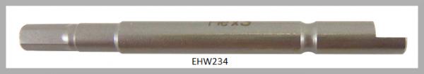 10 Stück Vessel Industriebit Hexagonal-Schrauben HALF MOON BIT Ø4mm HEX 1.5 X Ø4.0 X 44 (mm)