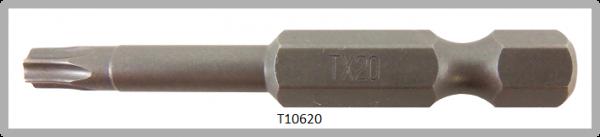 """Vessel Industriebit für Torx-Schrauben POWER BIT 1/4"""" HEX E6.3 TX 20 X Ø4.37 X 49 (mm)"""