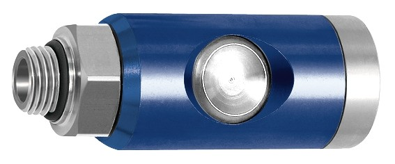 Pushbutton safety coupling I.D. 7.4, rotating, Alu, G 1/4 - 1/2, ET/IT