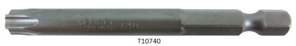 """Vessel Industriebit für Torx-Schrauben POWER BIT 1/4"""" HEX E6.3  TX 40 X Ø7.0 X 70 (mm)"""