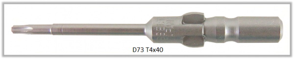 Vessel Industriebit für Torx-Schrauben WING SHANK BIT Ø4mm  TX 4 X Ø1.8 X 20 X 40 (mm)
