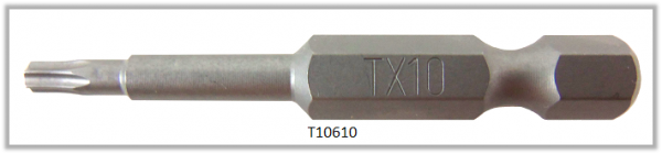 """Vessel Industriebit für Torx-Schrauben POWER BIT 1/4"""" HEX E6.3  TX 10 X Ø3.96 X 49 (mm)"""