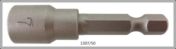 """10 Stück Vessel HEX Steckschlüssel POWER BIT 1/4"""" HEX E6.3 A/F 7.0 X Ø13.0 X 50 (mm)"""