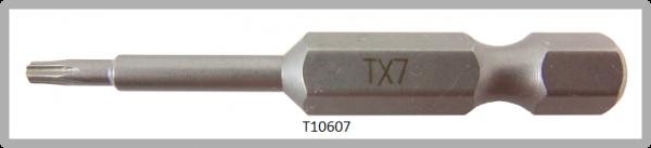 """Vessel Industriebit für Torx-Schrauben POWER BIT 1/4"""" HEX E6.3  TX 7 X Ø3.18 X 49 (mm)"""