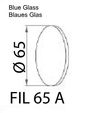 Blaues Glas für ILLI LED Maschinenleuchte