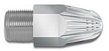 """Power Runddüse Zink-Aluminium oder Edelstahl 3/4"""" BSPM Außengewinde"""
