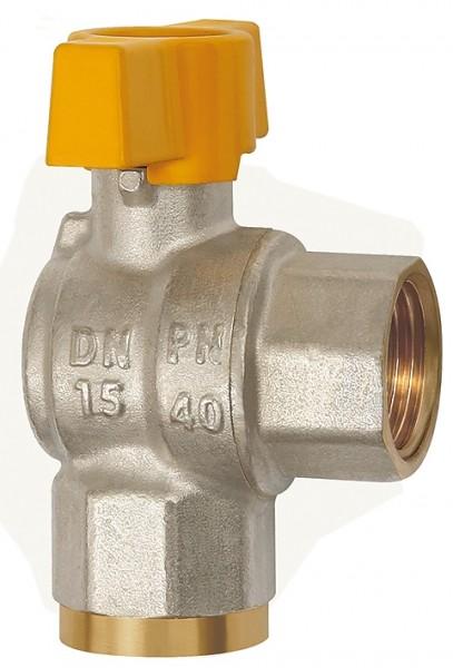 Rectangular ball valve, nickel-plated brass, IT/IT, Rp 1/2 - 1, DN 15 - 25