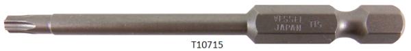 """Vessel Industriebit für Torx-Schrauben POWER BIT 1/4"""" HEX E6.3 TX 15 X Ø3.96 X 70 (mm)"""