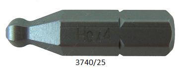 """10 Stück Vessel Industriebit Hexagonal-Schrauben INSERT BIT 1/4"""" HEX E6.3 BP HEX 4.0 X 25 (mm)"""