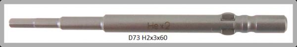 10 Stück Vessel Industriebit Hexagonal-Schrauben WING SHANK BIT Ø4mm HEX 2.0 X Ø3.0 X 20 X 60 (mm)