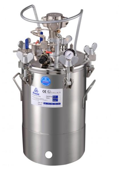 Drucktank Edelstahl 20 Liter pneumatisches Rührwerk