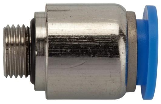 Gerade Steckverschraubung »Blaue Serie«, rund, G 1/2 außen, Ø 8 - 12 mm
